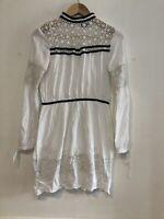 Topshop Ladies White Dress Size 8 UK