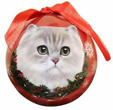 "PERSIAN Cat--Shatterproof Ball Ornament--3""-- by E & S Pets"