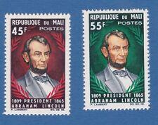 Mali 1965 Lincoln politici politics anniversary MNH**OG nuovo gomma integra