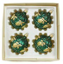 Handpainted Ball Vintage Handblown Eastern Europe Glass Christmas Ornament Set