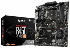 MSI B450-A PRO MAX Socket AM4 AMD B450 SATAIII 6Gb/s USB3.2 Gen2 ATX Motherboard