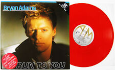 "Bryan Adams Run To You 12"" 45 rpm 3-track single RED VINYL 1984 NEAR MINT VINYL"