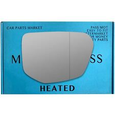 Right Driver Side Wide Angle Wing Mirror Glass for HONDA Civic 2017-on Heated