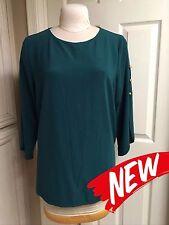 NEW Susan Graver XL Lustra Knit Jade Split Slv Tunic Top & Pull On Elastic Pants