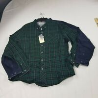 Heritage lot 2 bundle mens Shirt Button slim Collar 2XL blue green m