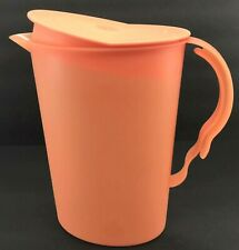 Tupperware Impressions Slimline Pitcher 2 Qt. Rocker Top Mango #3333 New