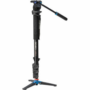 Benro A38FDS2 Aluminum Monopod w/ 3-Leg Locking Base and S2 Video Head