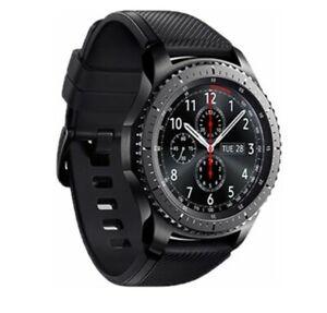 Samsung Gear S3 Frontier 46mm Stainless Steel Black Smart Watch- Bluetooth/WiFi