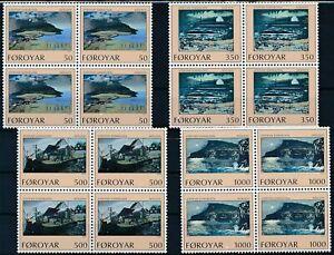 [P15385] Faroe 1990 : Art - 4x Good Set Very Fine MNH Stamps in Blocks