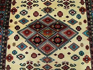 Classic Designed Rectangle Area Rug Hand Knotted Wool Silk Carpet (9 x 6)'