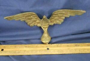 VINTAGE EAGLE BRASS Spread Wings Flag Pole Topper Finial Clock Decorative Screw!