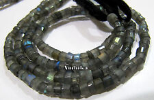 AAA Quality Natural Blue Flashy  Labradorite 5mm tyre shape Beads Strand 14 inch