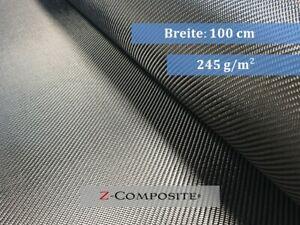 2qm Carbongewebe 245g/m² Köper, Kohlefaser, CFK, Z-HGC-Twill245, Rollenversand!