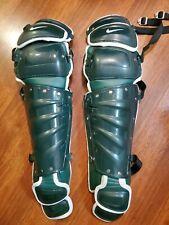 """New listing BRAND NEW Nike Baseball Vapor Catchers Leg Guards Green / White 16"""" $350"""