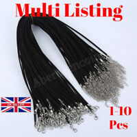 1-10 Fashion Suede Leather String Necklace Cords With Clasp DIY Jewellery Making