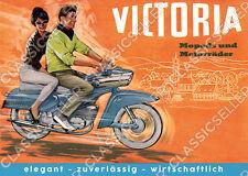 Victoria Moped Motorrad Typ 155 159 Blechbanane Poster Plakat Bild Kunstdruck