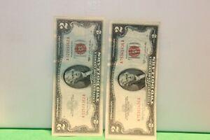 1953 C 1963 $2 Red Seal Nice AU Crisp