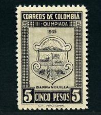 Kolumbien 1935 Barranquilla Olympiade Wappen 5 Pesos 365 MNH / 490
