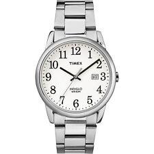 Timex TW2R23300, Men's Silvertone Bracelet Watch, Easy Reader,Indiglo, Date