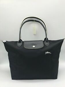 Authentic Longchamp Le Pliage Tote Bag BLACK LARGE Size L NEW Christmas Gift
