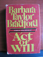 Act of Will by Barbara Taylor Bradford 1986 HCDC