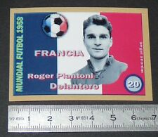 FRANCE ROGER PIANTONI STADE REIMS COUPE MONDE FOOTBALL 1958 STYLE PANINI