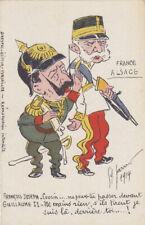 Guerre 14-18 WW1 Caricature  anti kaiser passer devant