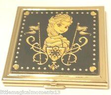 Disney Parks Arribas Anframa Damascene ELSA FROZEN 24k Gold Foil Mirror Compact