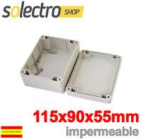 Caja Plastico Proyecto Electrónico Prototipo ABS Impermeable 115x90x55 H0119