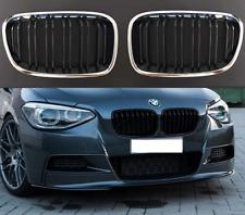 BMW 1 Series F20 F21 2011-2015 chrome black front kidney grilles twin slat spoke