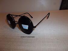 Flip Up Lens Steampunk Vintage Retro Style Round Sunglasses UNISEX SILVER