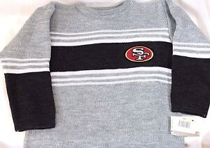 Boys Kids Youth NFL Apparel Mighty Mac San Francisco 49'ers Football Sweater