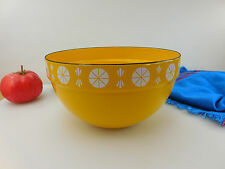 Vtg Cathrineholm Norway Yellow Fondue Pot Bowl Replacement Part