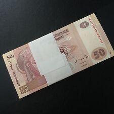 Bundle 100 PCS, Congo 50 Francs, 2007-2013, P-97, UNC, Lot Pack