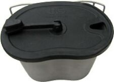 Heavy Cover Stainless Steel Canteen Cup Soft Rubber Lid