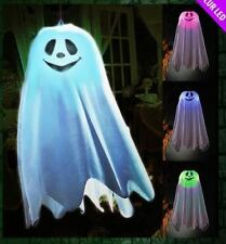 Light Up Ghost Halloween 45cm Hanging Party Decoration Spooky Prop Scary