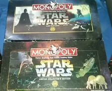 MONOPOLY STAR WARS LIMITED COLLECTOR'S EDITION & CLASSIC TRILOGY EDITION 2 LOT