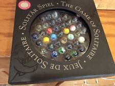 Solitaire Di Venezia Game Authentic Models Hand Blown Glass Marbles - COMPLETE