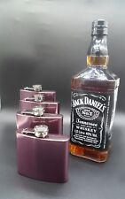 Hip Flask Stainless Steel Pocket Drink&Holder Whisky Liquor Vodka Maroon Colours
