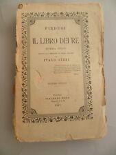 Firdusi Il libro dei re Poema Italo Pizzi Volume VIII 1888 Torino Vincenzo Bona