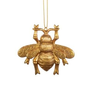 Sass & Belle Golden Bee Merry Hanging Christmas Hanging Tree Decoration Xmas New
