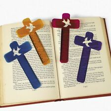 RELIGIOUS CROSS BOOKMARK/RULERS (LOT OF 48) NEW DOVE