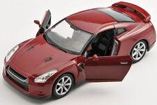 BLITZ VERSAND Nissan GT-R bordeaux 1:34 ca.12cm Welly Modell Auto NEU & OVP