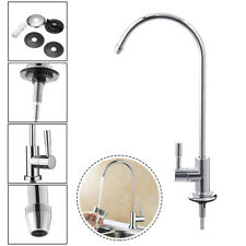 """1/4"""" 360° RO Water Filter Faucet Reverse Osmosis System Goose Neck Sink Tap"""