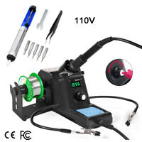 110V 60W Rework Soldering Iron Station Electric Solder Tool Digital LED Display