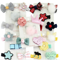Toddler 5X Bow Hair Girl Clip Flower 5Pcs/set Baby Hairpins Barrettes Clips