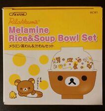 Rilakkuma Melamine Rice and Soup Bowl Set
