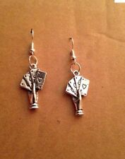The Fortune Tellers Hand Poker Earrings Gypsy Gipsy