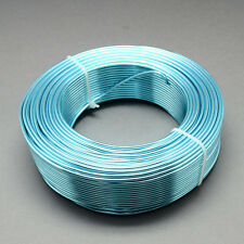 2mm Aluminio Craft floristería Alambre Fabricación de Joyas Cielo Azul 3m longitudes