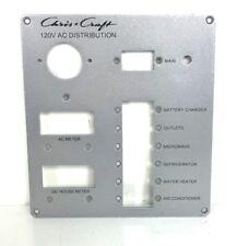 "Chris Craft 120V AC Distribution Instrument / Gauge Panel 8 1/4"" x 7 1/2"""